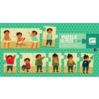thumb-Je m'habille - puzzle de 10 pièces-1