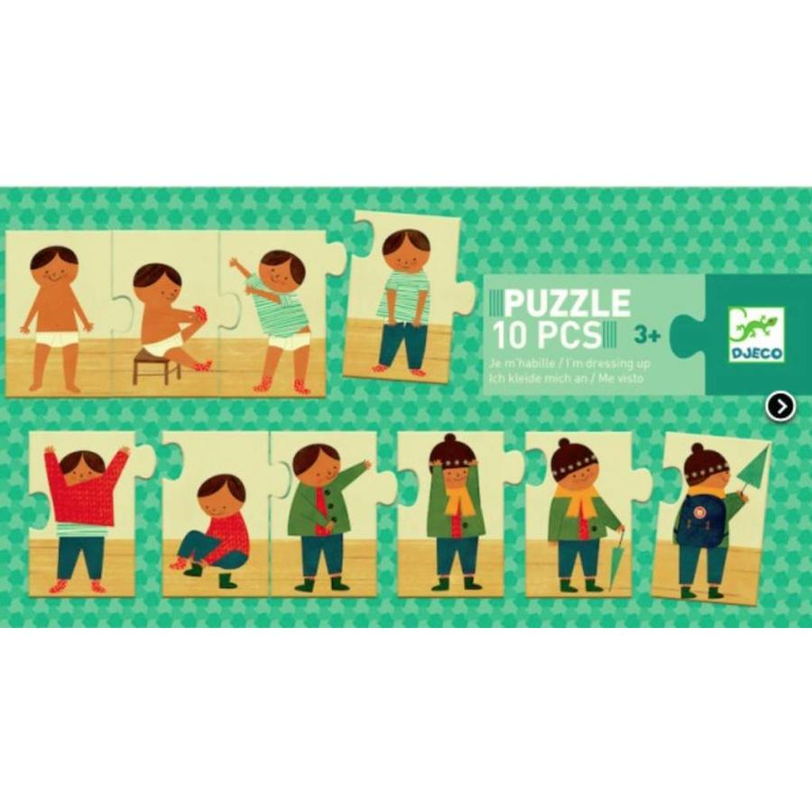 Je m'habille - puzzle de 10 pièces-1