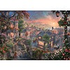 Schmidt Lady and the Tramp - Thomas Kinkade - jigsaw puzzle of 1000 pieces