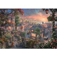 thumb-Lady and the Tramp - Thomas Kinkade - jigsaw puzzle of 1000 pieces-1
