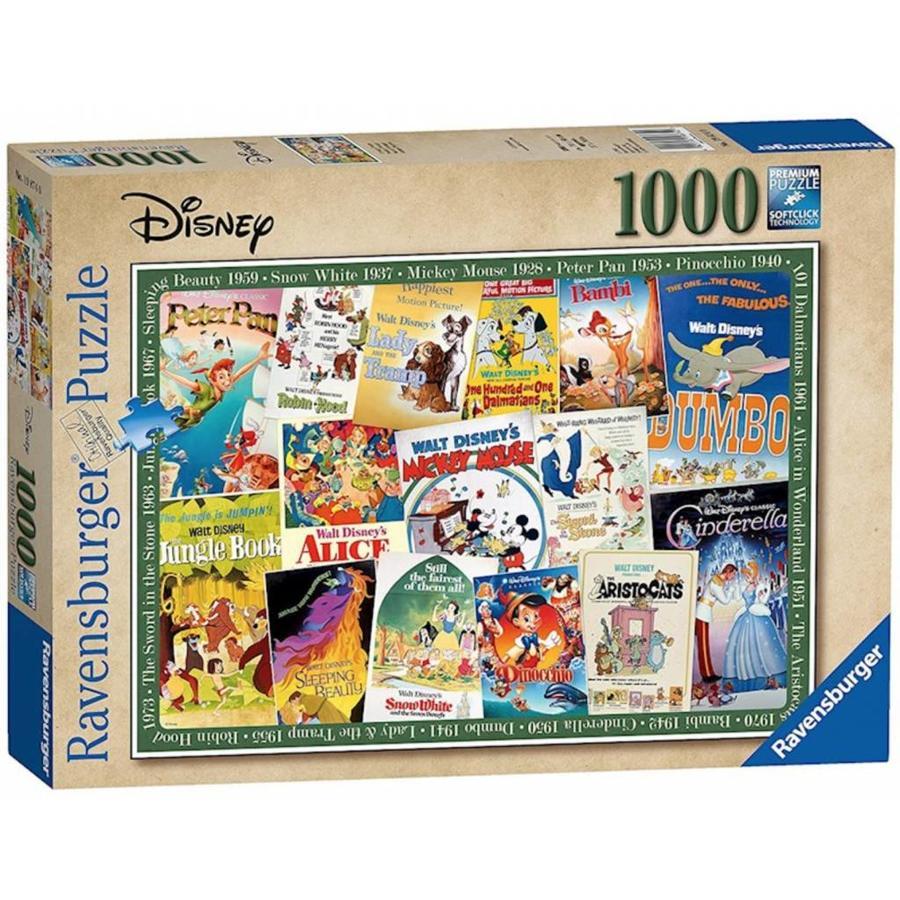 Disney Vintage Posters  - 1000 stukjes - Exclusiviteit-1