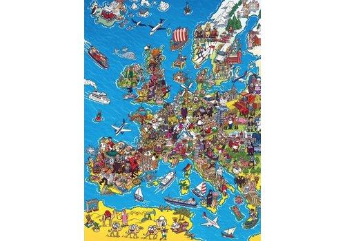 Kaart van Europa - 1000 stukjes