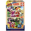 Educa HOUT: Mickey Mouse - 2 puzzels x 16 stukjes