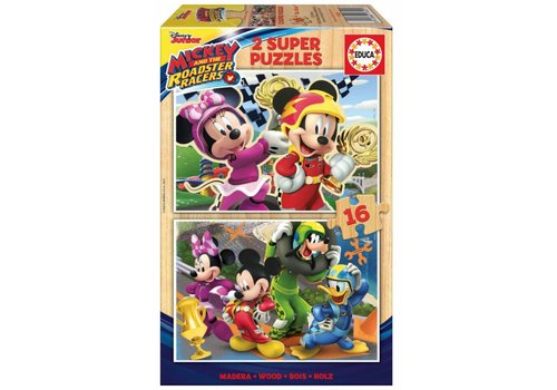 Educa WOOD: Mickey Mouse - 2 x 16 pieces