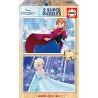 HOUT: Frozen - 2 puzzels van 25 stukjes