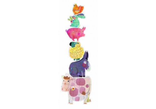 6 giant farm animals - 9, 12 and 15 pieces
