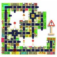 thumb-Bouw zelf je stad - puzzel van 24 stukjes en 5 verkeersborden-2