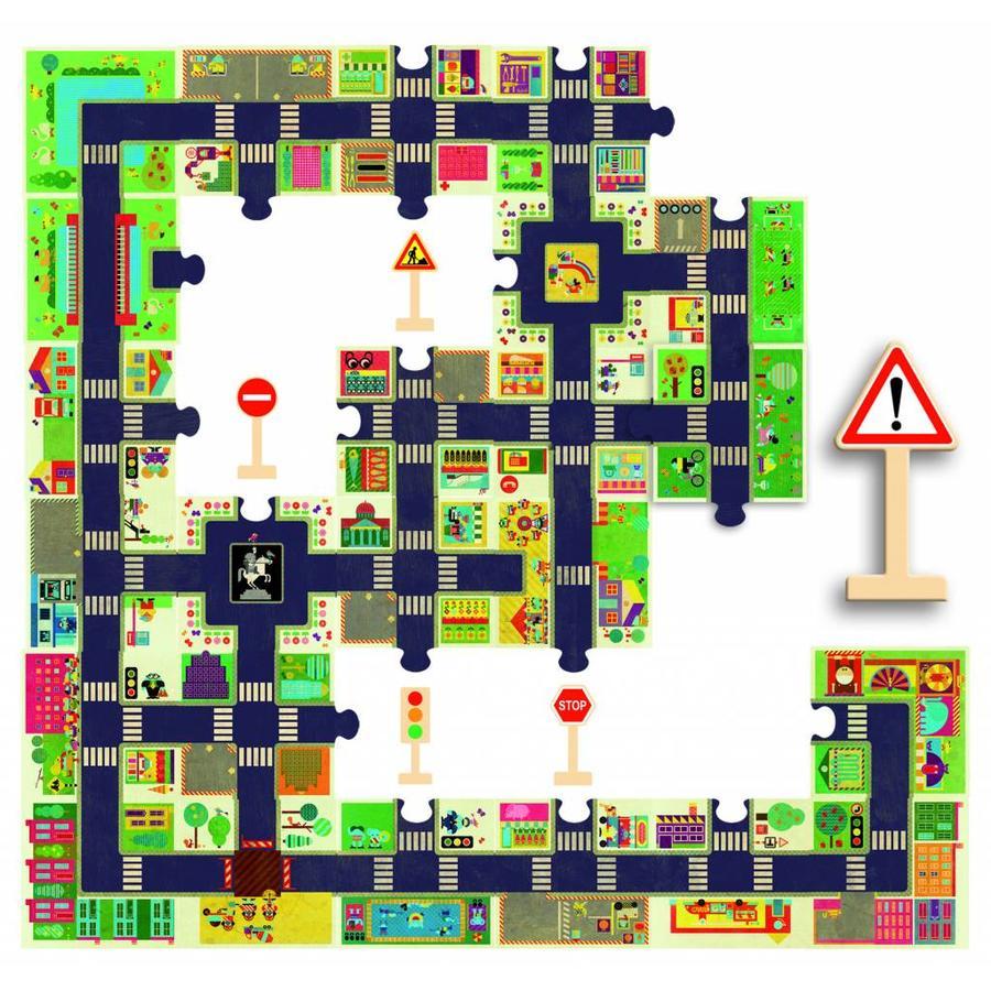 Construisez votre ville - casse-tête de 24 pièces et 5 trafic-2