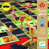 thumb-Bouw zelf je stad - puzzel van 24 stukjes en 5 verkeersborden-1