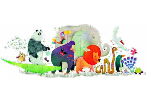 De reuzengrote dierenparade - 36 stukjes