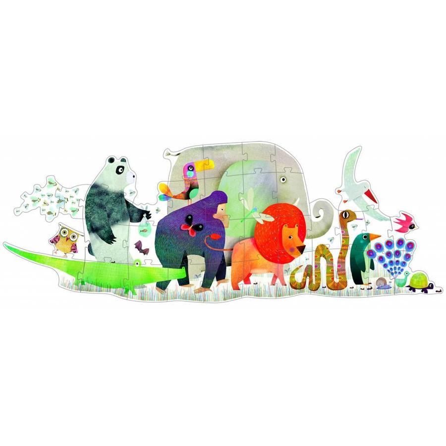 De reuzengrote dierenparade - puzzel van 36 stukjes-1