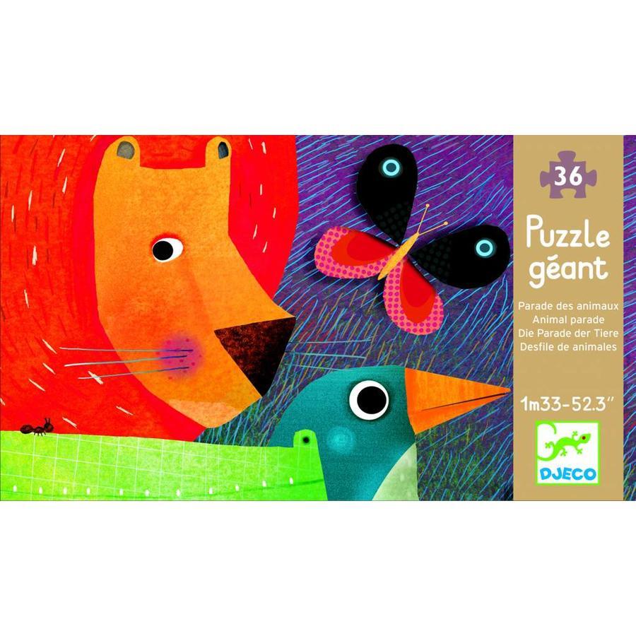 De reuzengrote dierenparade - puzzel van 36 stukjes-2