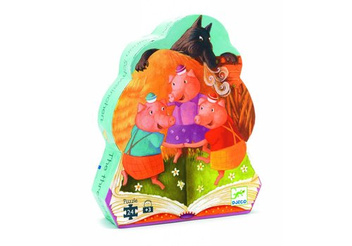 Djeco The three little piglets - 24 pieces