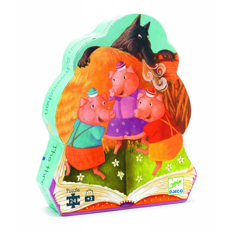 Les trois petits cochons - casse-tête de 24 pièces-1