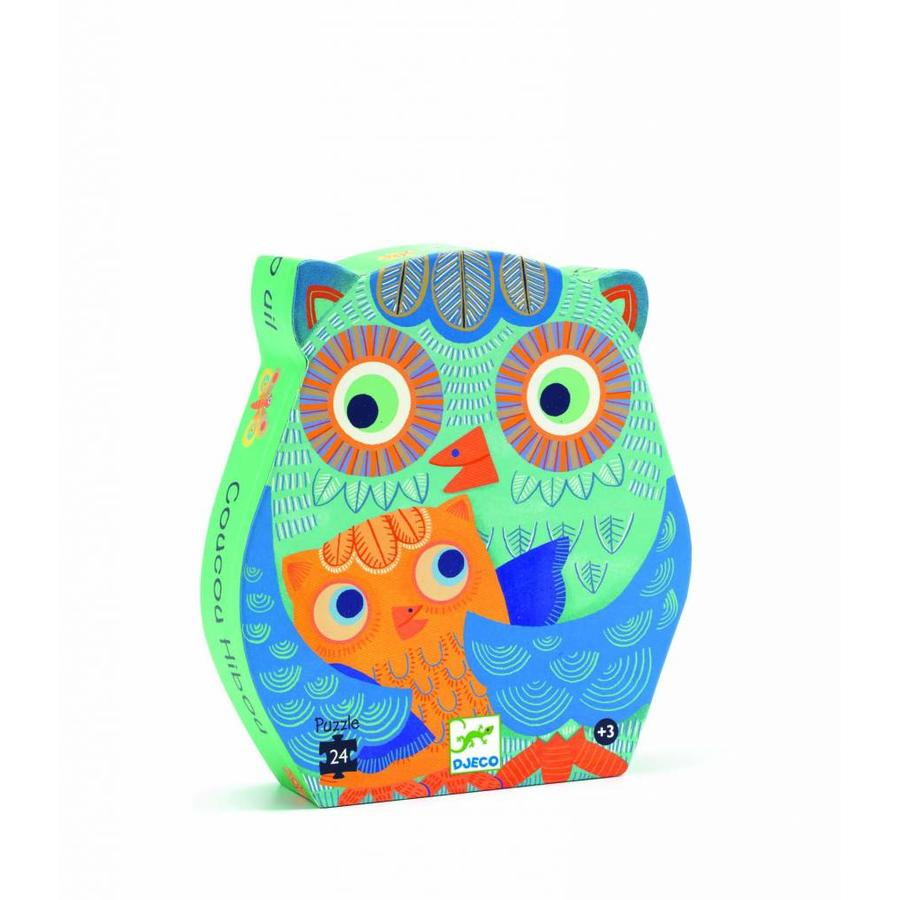 The owl and the baby owl - puzzle of 24 pieces-1