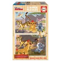 HOUT: De leeuwenwacht - 2 x 25 stukjes