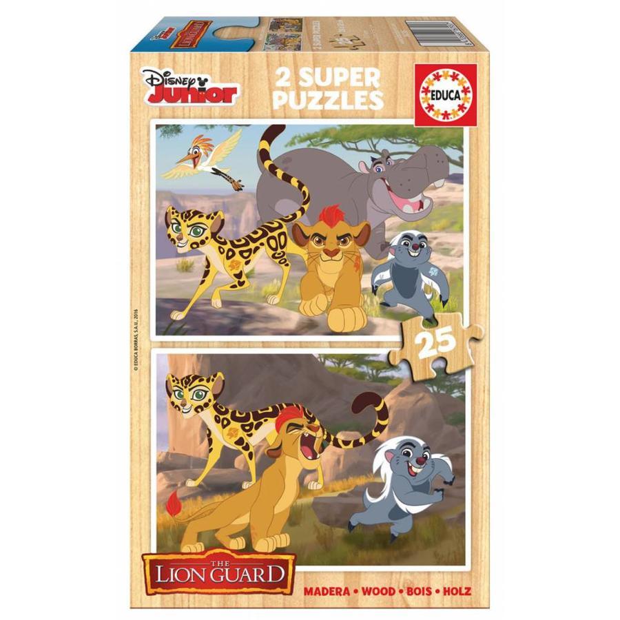 HOUT: De leeuwenwacht - 2 x 25 stukjes-1