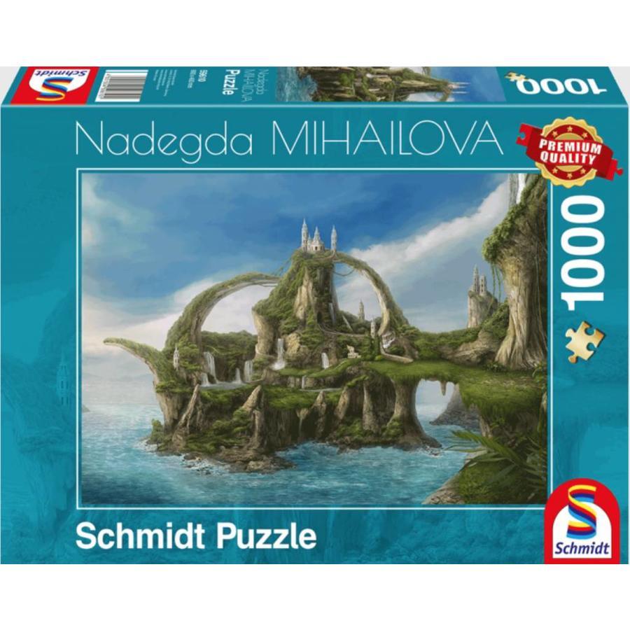 Île aux cascades  - Nadegda Mihailova - puzzle de 1000 pièces-2
