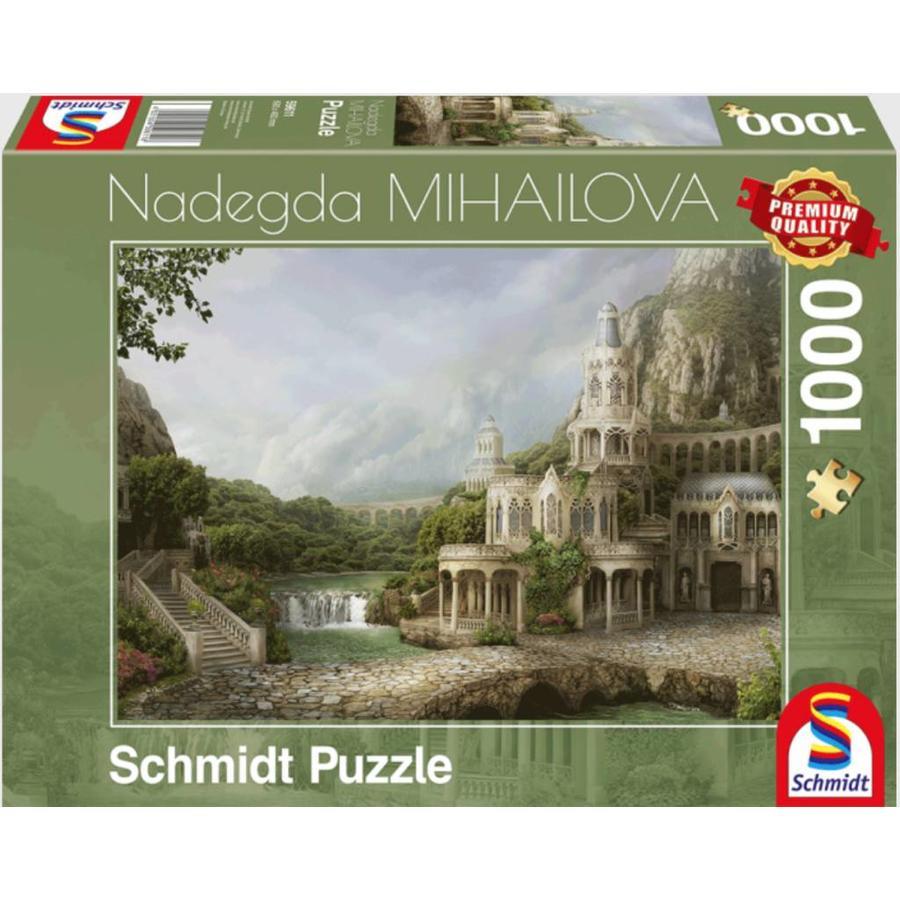 Paleis in de bergen - Nadegda Mihailova - puzzel van 1000 stukjes-2
