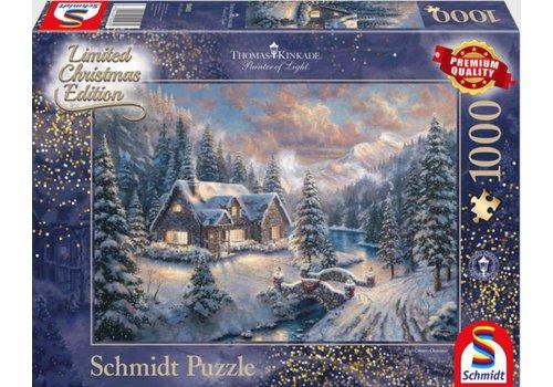 Kerst in de bergen - 1000 stukjes