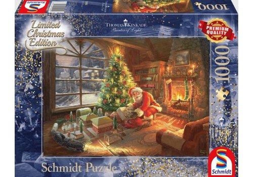De kerstman is er - 1000 stukjes