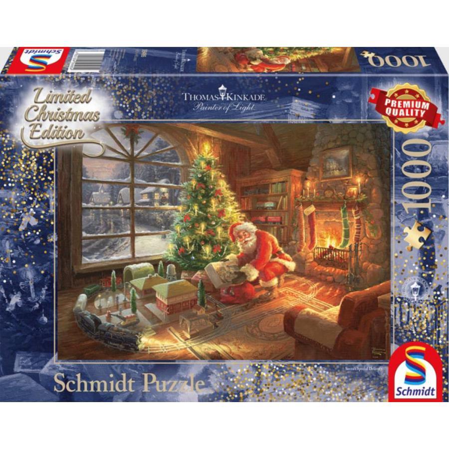 De kerstman is er  - Thomas Kinkade - puzzel van 1000 stukjes-1