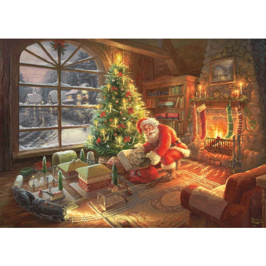 De kerstman is er  - Thomas Kinkade - puzzel van 1000 stukjes-2