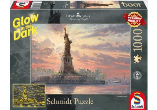 Het Vrijheidsbeeld - Glow in the Dark - 1000 stukjes