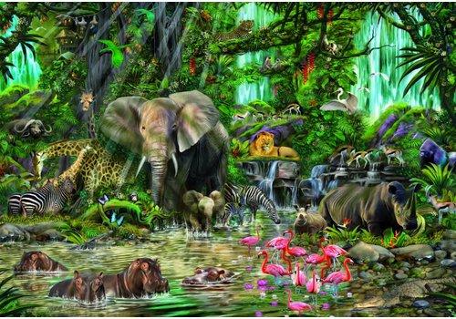 Afrikaanse jungle - 2000 stukjes