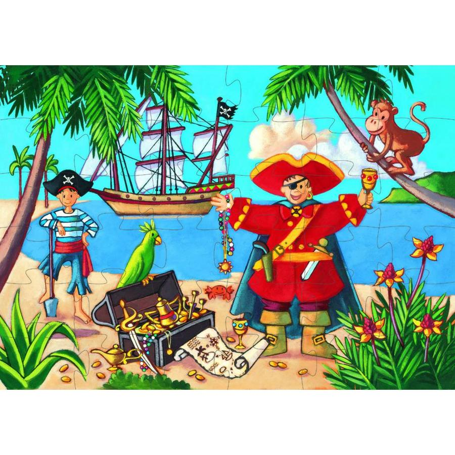 De piraat en z'n schat - puzzel van 36 stukjes-2