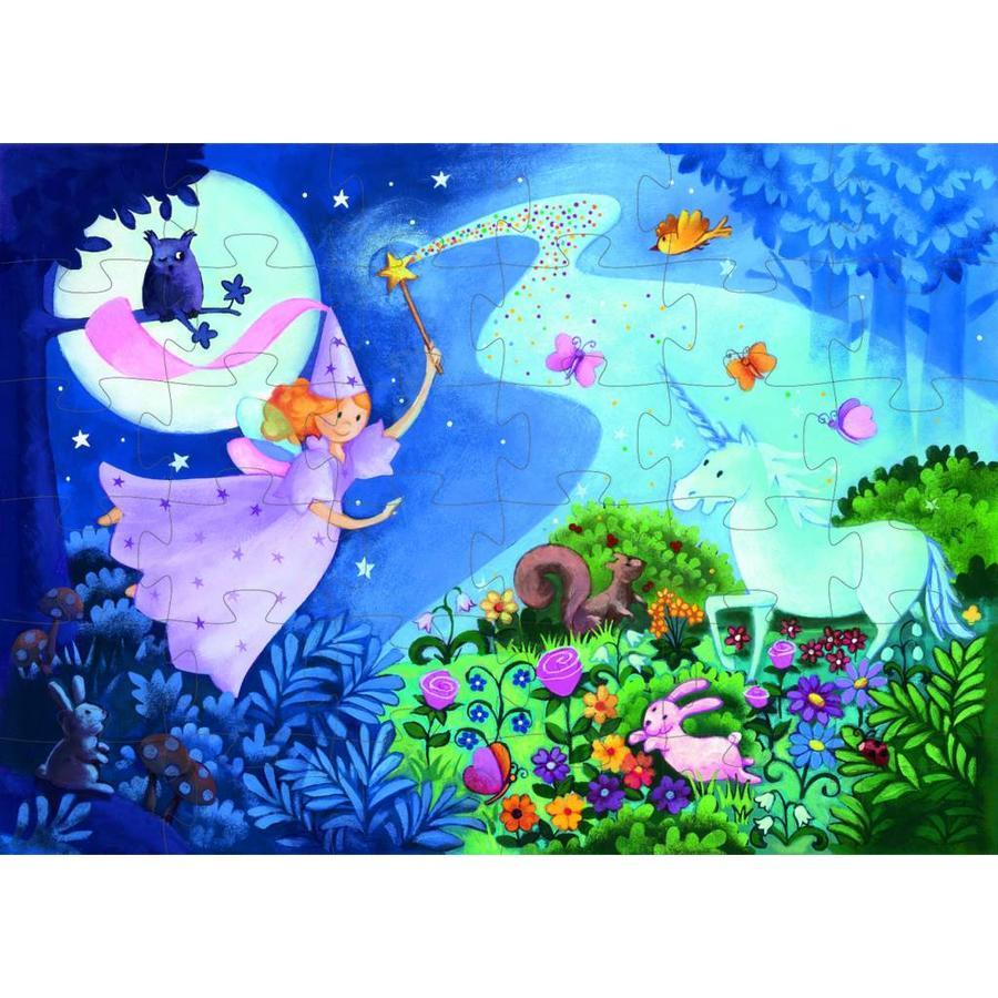 La fée et la licorne - puzzle de 36 pièces-2