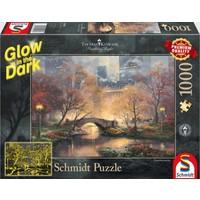 thumb-Central Park - Glow in the Dark - Thomas Kinkade - puzzel van 1000 stukjes-1