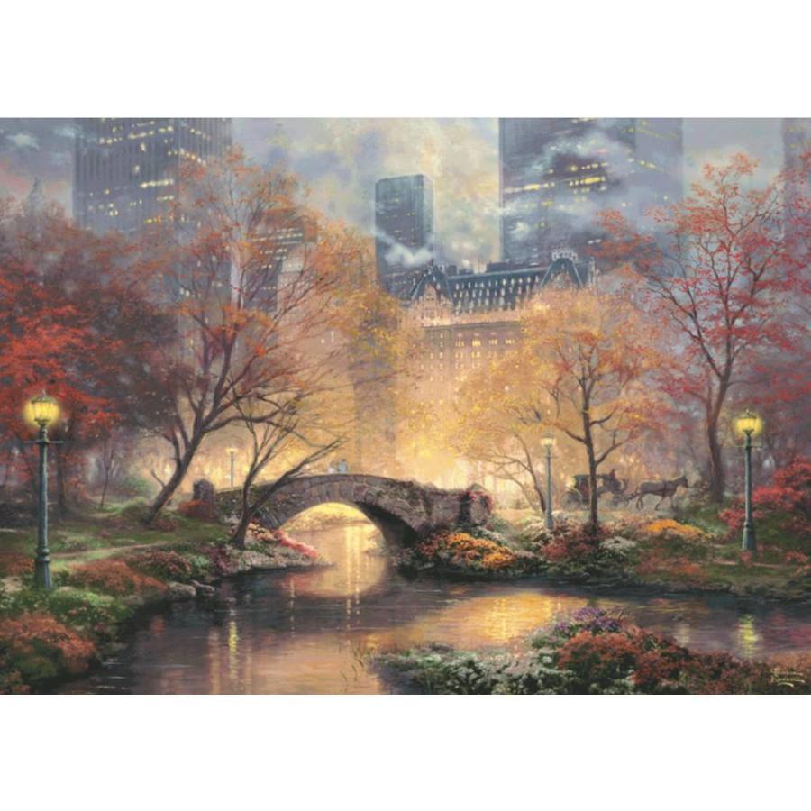 Central Park - Glow in the Dark - Thomas Kinkade - puzzel van 1000 stukjes-2