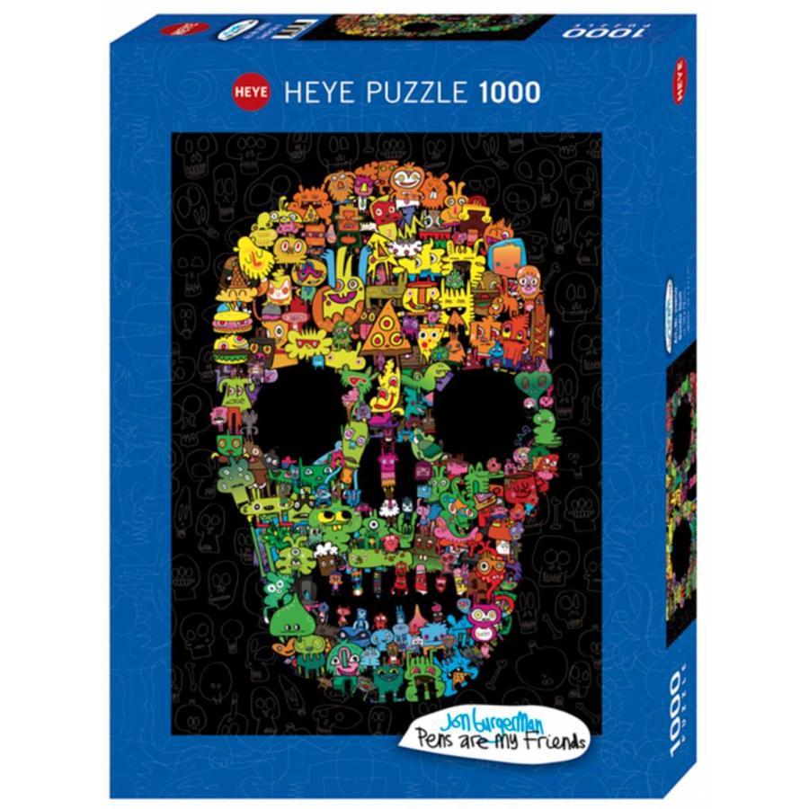 Doodskop Doodle - puzzel van 1000 stukjes-2