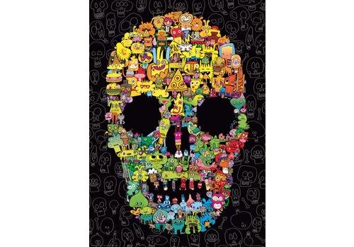 Crâne à gribouillis  - 1000 pièces