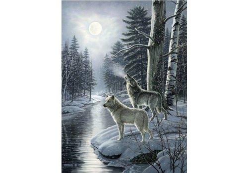 Wolven in het maanlicht - 1000 stukjes
