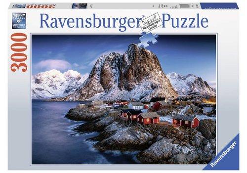 The Norwegian village of Hamnoy - 3000 pieces