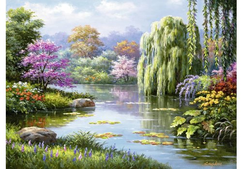 Romance by the pond - 500 pieces