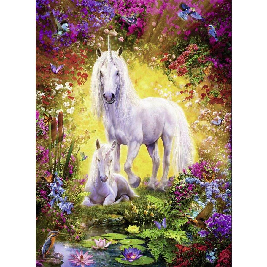 La licorne et son poulain - 500 pièces-1