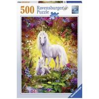 thumb-La licorne et son poulain - 500 pièces-2