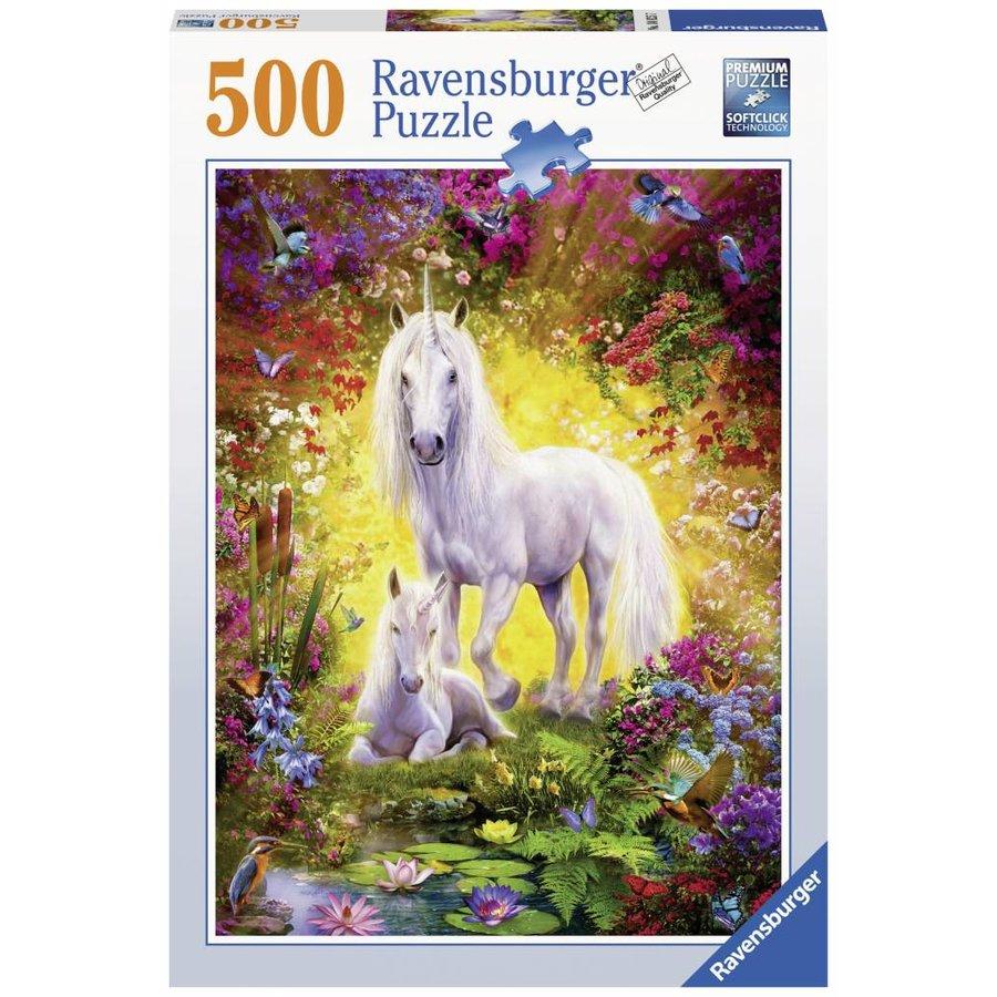 La licorne et son poulain - 500 pièces-2