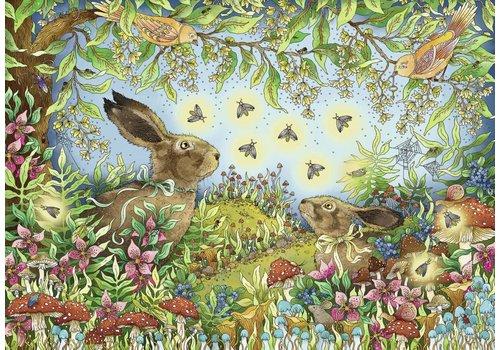 Forêt magique nocturne - 1000 pièces
