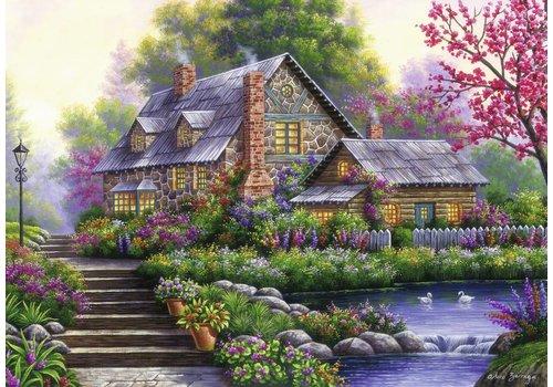 Romantische cottage - 1000 stukjes