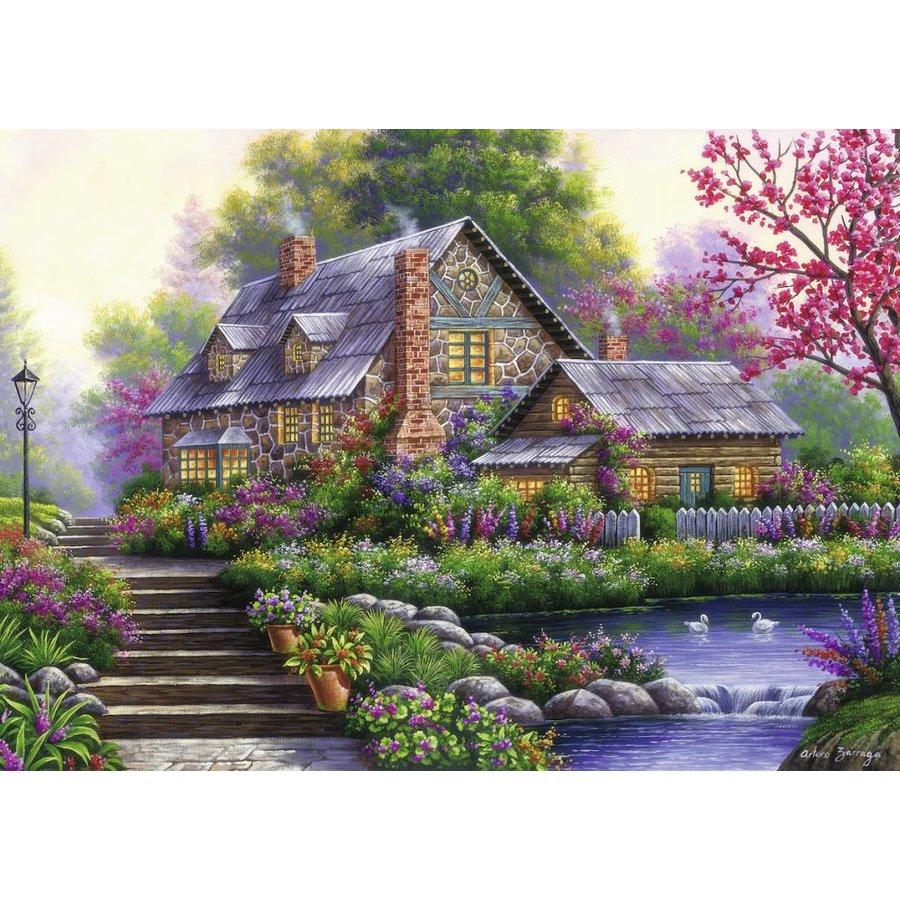 Romantische cottage - 1000 stukjes-1