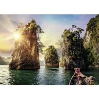 thumb-Drie rotsen in Cheow - Thailand - puzzel van  1000 stukjes-1