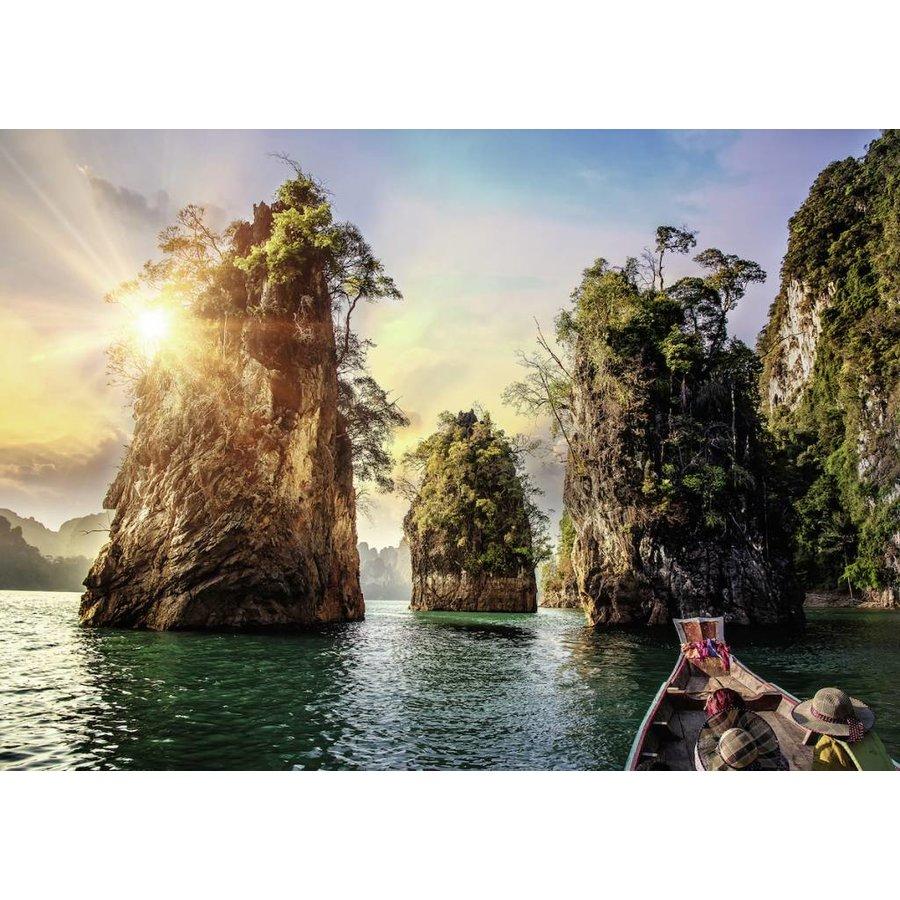 Drie rotsen in Cheow - Thailand - puzzel van  1000 stukjes-1