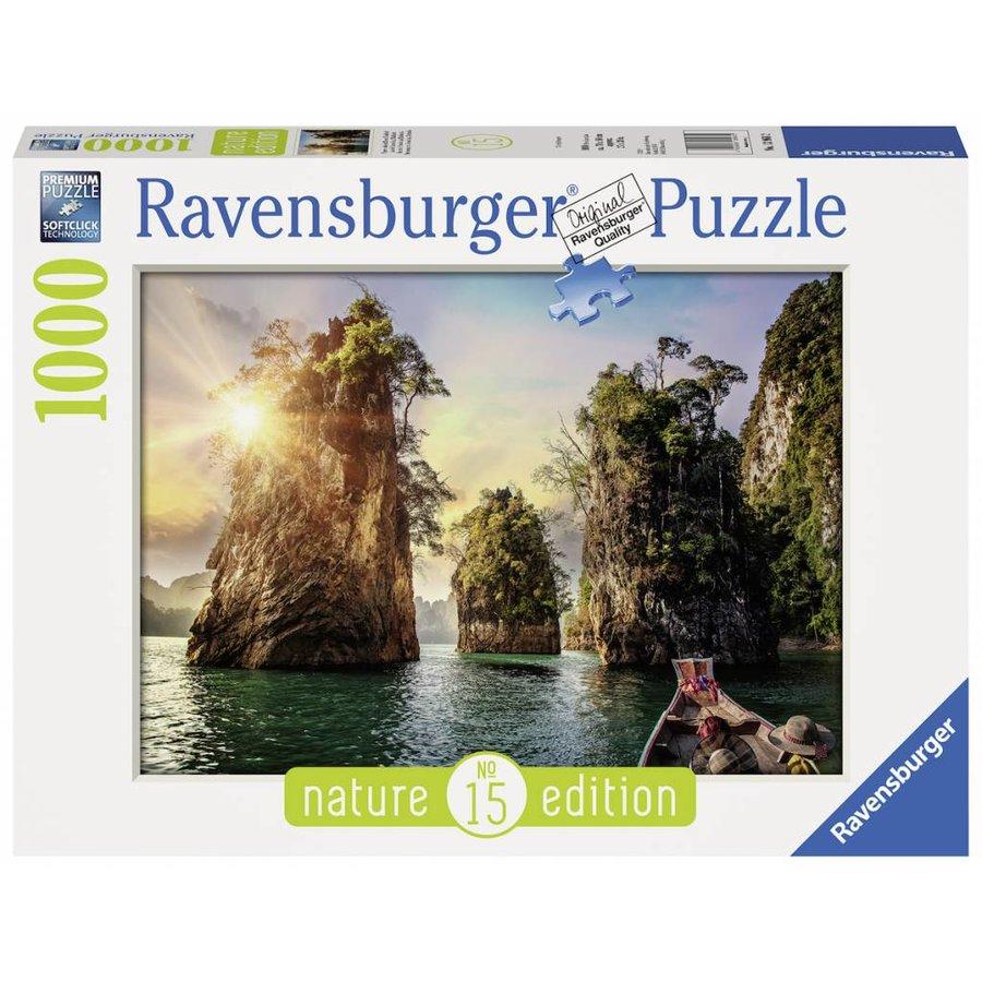 Drie rotsen in Cheow - Thailand - puzzel van  1000 stukjes-2