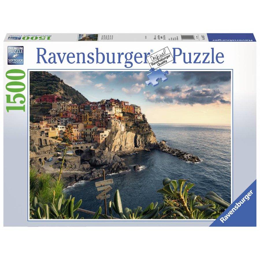 Vue sur les Cinq Terre - puzzle de 1500 pièces-2
