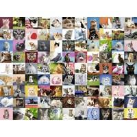 thumb-99 Katten  - puzzel van 1500 stukjes-1