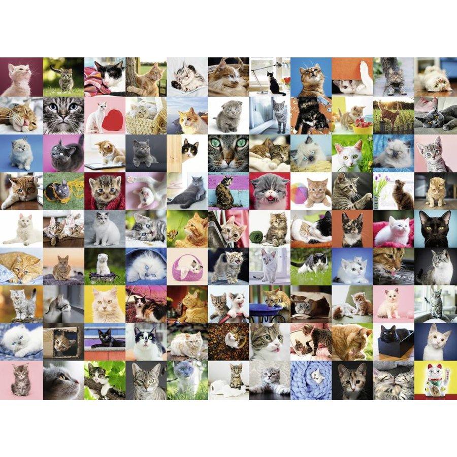 99 Chats - puzzle de 1500 pièces-1